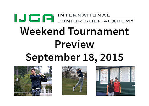 IJGA Weekend Tournament Preview