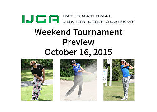 Weekend Tournament Preview October 16