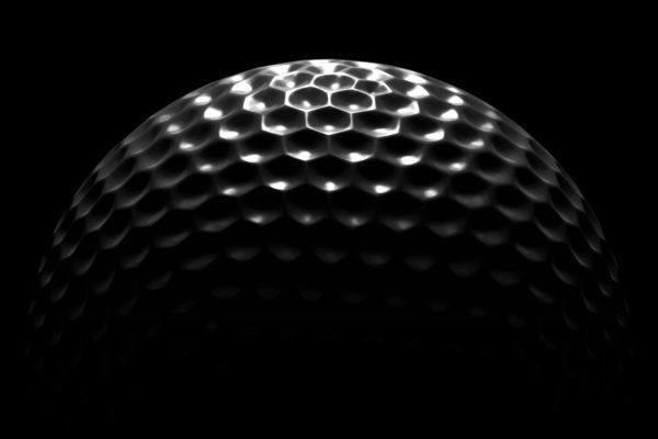 top of golf ball