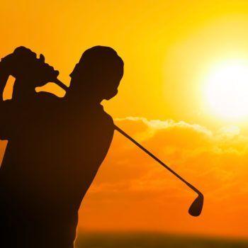 Golf Sunset Silhouette