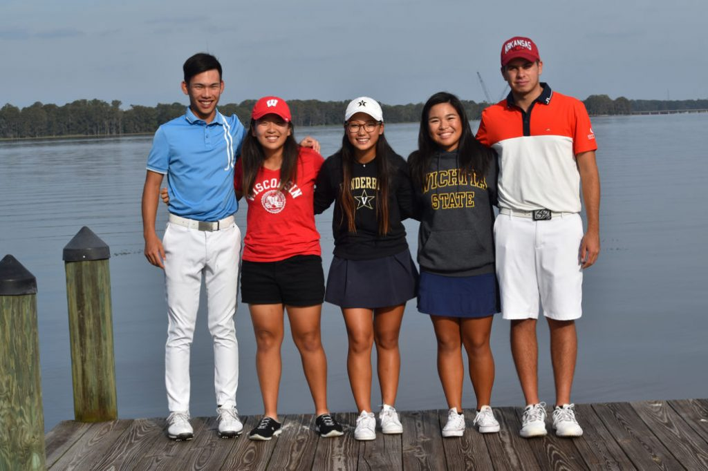 junior golf academy student college signing